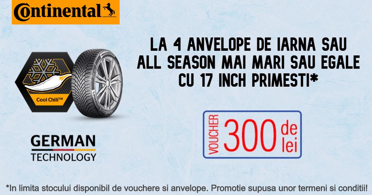 Promotie anvelope iarna si all season Continental